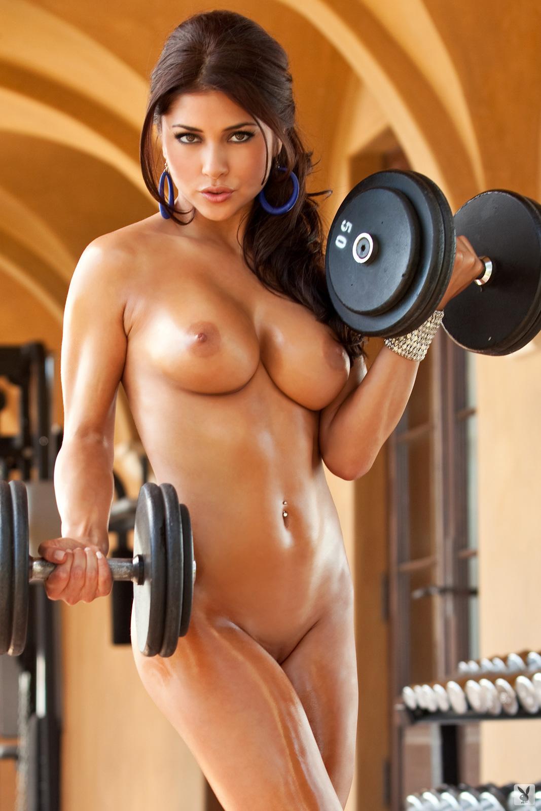 голые спортивные фитнес девушки - 12
